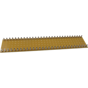 Turret Board - 2mm, Loaded with 60 Turrets, 300mm x 60mm