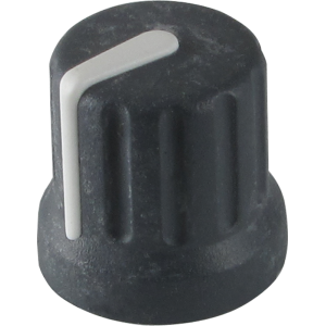 "Knob - Korg, Dark Grey with white line, ½"" Tall, ½"" Diameter"