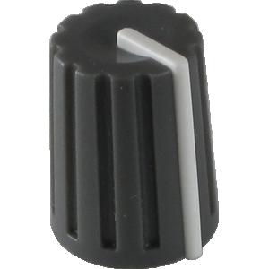 "Knob - Korg, Dark Grey with white line, ½"" Tall, 3/8"" Diameter"