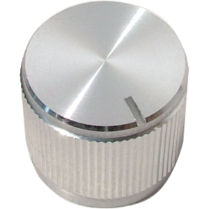 "Knob - Aluminum, Notched Tip Indicator, Push-On, .75"" Diameter"