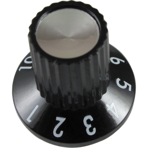 Knob - Original Fender, Princeton 65 DS, Black Rotary 180