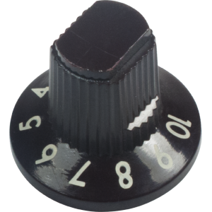 Knob - Fender, Dark Brown 1-10 Knob