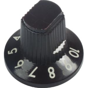 Knob - Fender, Dark Brown 1-10 Knob