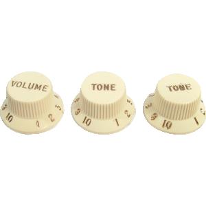 Knob, Fender® Aged White for Stratocaster (1 volume, 2 tone)