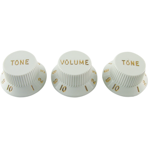 Knobs - Fender®, Stratocaster, 1 Volume, 2 Tone