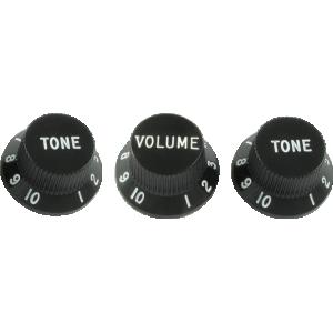 Knob, Fender® black for Stratocaster (1 volume/2 tone)