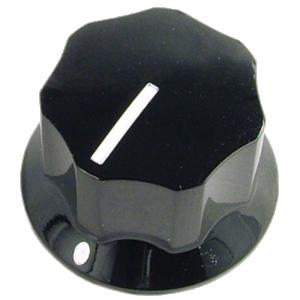 "Knob - Black, Line, Set Screw, 1.0"" x .6"""
