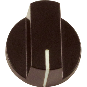 Knob - Brown with white line, large, set screw