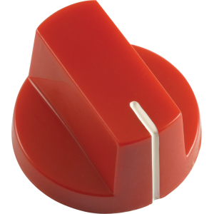 Knob - Red, white line, Large, set screw