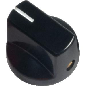 Knob - Black, White Line, Small, Set Screw