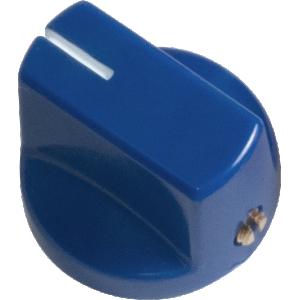 Knob - Blue, White Line, Small, Set Screw