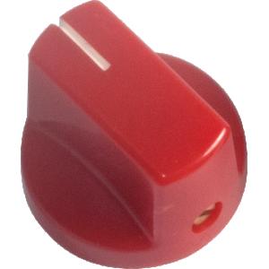 Knob - Red, White Line, Small, Set Screw