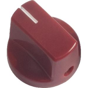 Knob - Wine Red, White Line, Small, Set Screw
