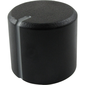 Knob - Peavey, Black, Grey Stripe, Set Screw
