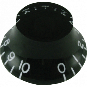 "Knob - Classic ""Top Hat"", Black, Set of 4"
