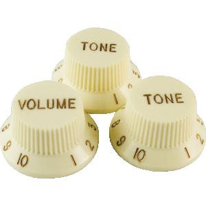 Knob, Stratocaster, cream (1 volume/ 2 tone)