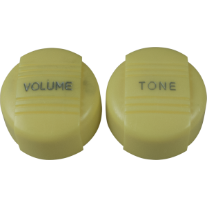 Knob - Vintage Radio, 1 Volume, 1 Tone, Push-On