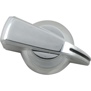 Chicken-head Knob, push on for knurled shaft, silver