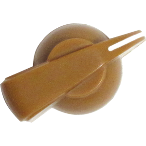 Chicken-head Knob, push-on for knurled shaft, tan
