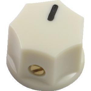Mini Indicator Knob, 15mm x 11mm, set screw, Cream