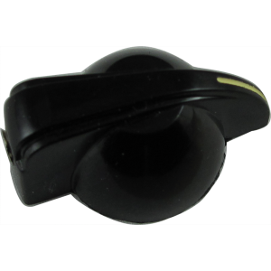 Knob - Small Chicken Head, Black, Set Screw