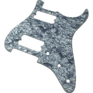 Pickguard, Fender® Standard Stratocaster 11-hole black pearloid