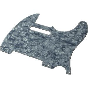 Pickguard, Fender® American Telecaster 8-hole black pearloid