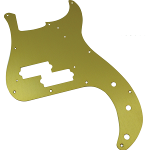 Pickguard - Fender®, '57 P-Bass, Gold-Anodized
