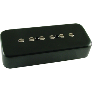 Pickup, Gibson® P-90 single coil, black soap bar