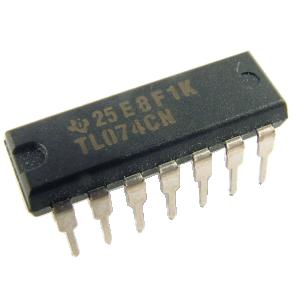 Integrated Circuit - TL074, Quad Op-Amp