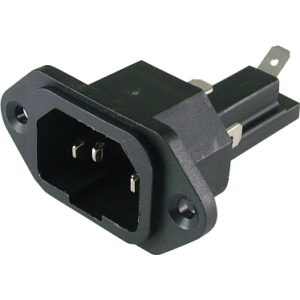 Receptacle - AC, Mates with S-W123 & S-W124 with Fuse Holder
