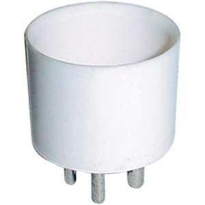 Tube Base - 4-Pin, Ceramic