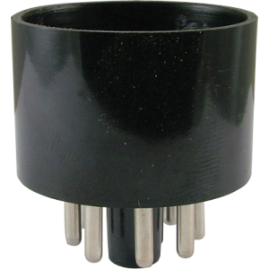 Tube Base - 8 Pin, Octal, Black