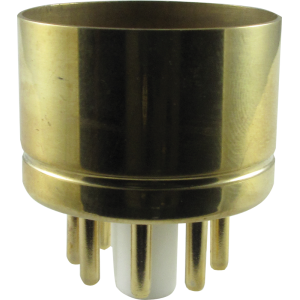 "Tube Base - 8 Pin, Gold Coated Pins, 1.20"" diameter"