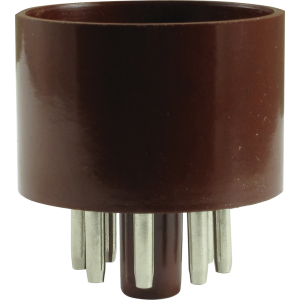 Tube Base - 8 Pin, Octal, Brown