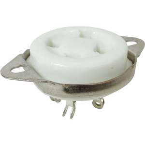 Socket - 4 Pin, Ceramic, Chassis Mount