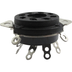 "Socket - 8 Pin, 1"" Chassis Hole, 1-1/4"" Mounting Centers"