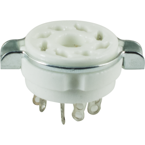 Socket - 8 Pin Octal, Ceramic, with Seperate Retaining Ring