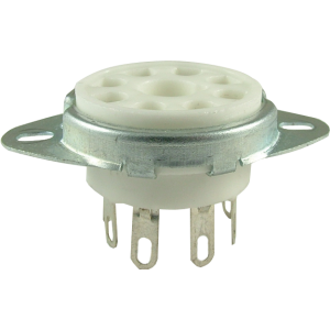 "Socket, 8 pin octal, 1"" with bracket"