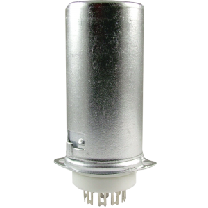 Socket - 9 pin miniature, ceramic base with aluminum shield