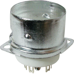 Socket - 9 Pin, Ceramic with Center Shield and Shield Base
