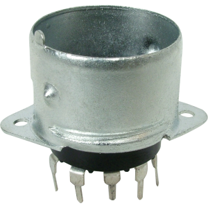 Socket - 9 Pin, Miniature, PC mount, with Shielded Base