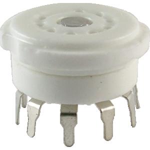 Socket - 9 Pin, Miniature, Ceramic PC, China