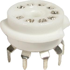 Socket - 9 Pin, Ceramic, PC Mount
