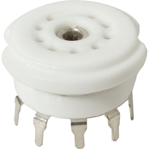 Socket - 9 Pin, Ceramic, PC Mount, with center shield