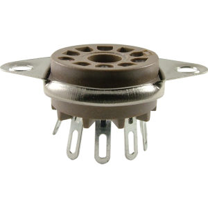 Socket - Belton, 9 Pin, Miniature, Bottom Mount
