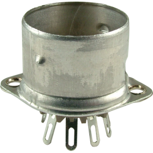 Socket, 9 pin, crimped with shield base, Micalex
