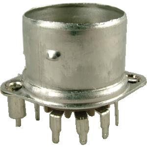 Socket - Belton, 9 Pin, Crimped with Shield Base, PC mount