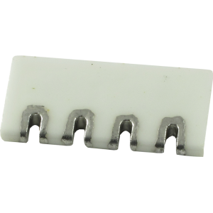 Terminal Strip, Ceramic, 1 Row, 4 slots, 2.5mm thread