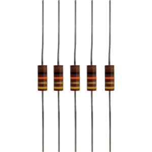 Resistor Kit - .5W, Carbon Composition, 5 of Each Value